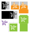 Laser cut leaf card, cutout paper leaves icon template