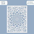Laser cut wedding invitation card template vector. Cut out the paper card with lace pattern. Greeting card template for cutting