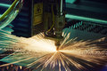 Laser cutting metalwork Royalty Free Stock Photo