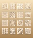 12 laser patterns for room walls in the Arabic style. Traditional oriental ornament in a rectangle for the design of a