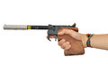 Laser pistol for target practice Royalty Free Stock Photos