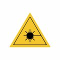The laser radiation sign vector design