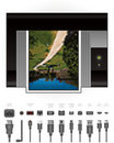 LaserJet Printer + Cables & Ports Royalty Free Stock Photo