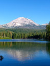 Lassen Peak, Manzanita Lake Stock Image