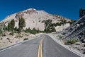 Lassen volcanic road main roadway in national park Stock Image