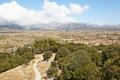 Lassithi plateau greece crete view of the from the mountain dikti Royalty Free Stock Images
