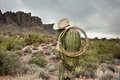 Lasso on cactus Royalty Free Stock Photo