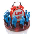 Last call in business the design of the information related to the work and the time Royalty Free Stock Photography