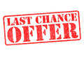 LAST CHANCE OFFER Royalty Free Stock Photo