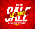 Last chance sale Royalty Free Stock Photo