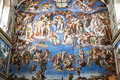 The last judgement sistine chapel vatican Stock Images