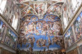 The last judgement sistine chapel vatican rome Stock Images