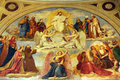 Last judgment fresco in the st elizabeth of hungary church paris Royalty Free Stock Photography