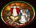 Last Judgment Jesus Stained Glass Parroquia Church San Miguel de Allende Mexico