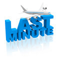 Last minute flight d generated picture of a concept Royalty Free Stock Photo