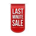 Last minute sale banner