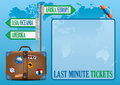 Last minute ticket booking sign label for a flight reservation vacation promotion offer Royalty Free Stock Images