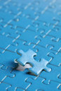 The last piece of puzzle Royalty Free Stock Images