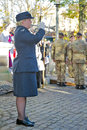 Last post bugler aylesbury uk november a of the raf plays to the massed crowds assembled for the annual remembrance sunday Stock Photo