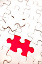 Last puzzle piece Stock Photography