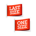 Last Size and One Size labels Royalty Free Stock Photo
