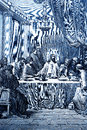 The last supper biblical theme illustrated by gustave dore Royalty Free Stock Photo