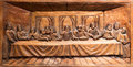 Last supper of jesus crafted in wood Royalty Free Stock Image