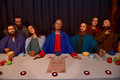 The last supper of jesus wax figures displaying figures belong to saint peterburg wax museum and are exhibited in travelling Royalty Free Stock Image