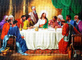 Last supper an old picture of from an anonymous author Royalty Free Stock Photo