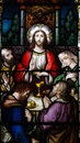 The last supper in stained glass a photo of Stock Photography
