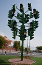 The last traffic light at Eilat, Israel Stock Images