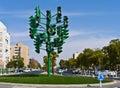 The last traffic light in Eilat, Israel Stock Photo