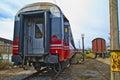 Last wagon of the train Royalty Free Stock Photo