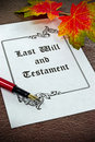 A last will and testament Royalty Free Stock Photo