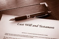 Last will and testament document Royalty Free Stock Photo