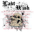 Last wish skull over spiders web Royalty Free Stock Photo