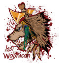 Last wolfhican native indian vector format symbol Stock Photo