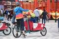 Cargo bike in the big amusement park `Prater` in Vienna, Austria, Europe Royalty Free Stock Photo