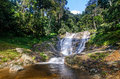Lata iskandar waterfall cameron highlands along the trunk road from tapah to Stock Image