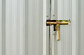 Latch on a metal shed door Royalty Free Stock Photography