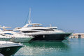 Latchi cyprus greece july assortment of boats in the mar marina at on Stock Photo