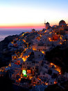 A late evening at Oia village Stock Photo