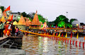 Late evening scene of river kshipra during simhasth great kumbh mela 2016, Ujjain India Royalty Free Stock Photo