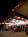 Late Night Movie at the Uptown Royalty Free Stock Photos