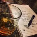 Late night writing Royalty Free Stock Photo