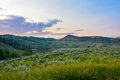 Late Summer Colorado Mountain Sunset Royalty Free Stock Photo