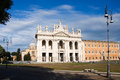 Lateran basilica san giovanni in rome italy on the square colonna Royalty Free Stock Photography
