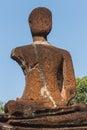 Laterite Broken Buddha Statue at Wat Pra Khaeo Kamphaeng Phet Province, Thailand Royalty Free Stock Photo