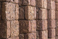 Laterite wall stone and gaps as background Stock Photography