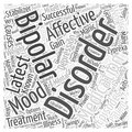 Latest medication for bipolar affective disorder word cloud concept Royalty Free Stock Photo